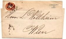 Austria 1860 outer wrapper from Graz to Wien