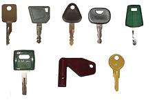 Volvo Heavy Construction Equipment Ignition Key Set 8 Keys With Laser Cut Key