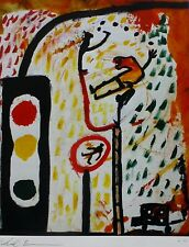 VOLKMAR SCHULZ-RUMPOLD DRIVING INSTRUCTOR HAND SIGNED NUMBERED  GERMAN ARTIST