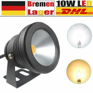 DC12V 10W LED Unterwasserstrahler Strahler Fluter Lampe  Warmweiß Weiß IP68 DE