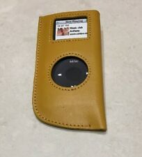 iPod Nano 2G 2nd Gen Tan Leather Case Cover Skin BRAND NEW