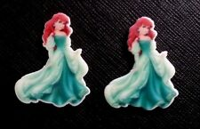 2 x Disney Princess Ariel Aqua Dress Planar Flatback Resin Flat Back Hair Resins