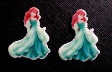 2 x Disney Princess Ariel Aqua Dress Planar Flatback Resin Flat Back Hair Resins