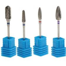 4x Nail Drill Rotary Files Gel Cuticle Clean Bit Silvery Color For Manicure