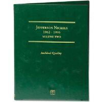 Coin Folder for 1962-1996 Jefferson Nickels Vol.2 LCF02 Gift Album by Littleton