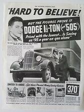 1936 Dodge 1 1/2 Ton  TRUCK Semi Trailer  Original Ad