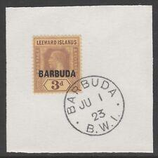 Barbuda 6071 -1922 KG5 3d su pezzo con MADAME Joseph FORGIATO TIMBRO POSTALE