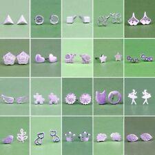2018 Fashion Women Girl Sterling Silver Earrings Cute Ear Stud Jewelry Gifts Hot