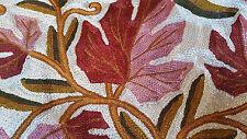 "SILK Fall Leaves 16"" ARI All Crewel Chain-Stitch Embroidery Pillow-Case Kashmir"