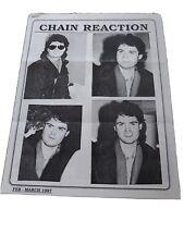 Osmond Chain Reaction Fan Newsletter Donny Osmond Debbie Feb March 1987