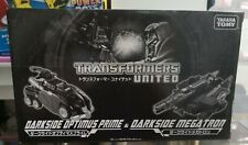 Transformers TAKARA TOMY UNITED Darkside Optimus Prime vs Darkside Megatron MISB