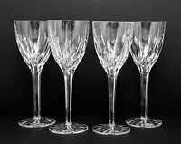 "MIKASA APOLLO Cut Lead Crystal 4 (four) 8"" Inch Water/Wine Glasses"