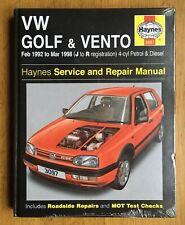 VW Golf Vento Haynes Hardback Manual 1992-98 1.4 1.6 1.8 2.0 Petrol 1.9 Diesel