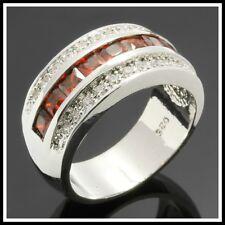 Juliani 925 Sterling Silver Ring 2.15 CTTW Garnet & White Sapphire Size 7