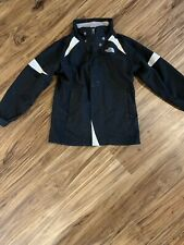 The North Face Girls Double Zipper Black White Rain Jacket Size Small
