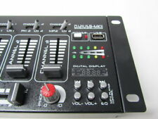 DJ PA Mixer 4 Kanal Party Disco Mischpult USB MP3 Player Stereo Microfon in Rack