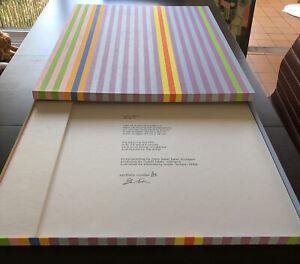 Rare Gene Davis 1969 Series 2 Petersburg Press Screenprint Box Cover Color Field