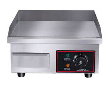 """14"""" Stainless Steel Electric Countertop Griddle Flat Top Restaurant Grills BBQ"""