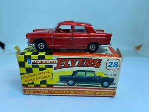Lone Star Impy Flyers 28 Peugeot 404 Red Boxed