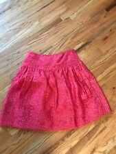 Bcbg Red Embroidered Skirt Size 0