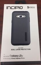 Incipio Dual Layer Protection Black Case for Samsung Galaxy J3 - Brand New
