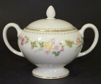 Wedgewood Fine Bone China Leigh Shaped Sugar Bowl & Lid in Mirabelle Pattern