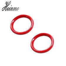 Interior Door Handle Cover Ring Trim Decoration for Mini Cooper Paceman R61 Red