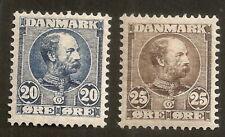 Denmark: Facit 44 -45, 1904,M Hinged ,Vf/Xf