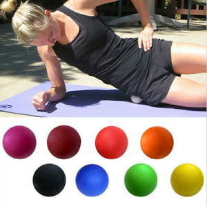 10pcs Yoga Gym  Ball Relieve Fatigue Roller Rubber Solid Silica Gel Pilates