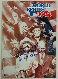 "KIRK GIBSON signed ""84 Champs"" 1984 World Series Tigers Program ~Beckett BAS COA"