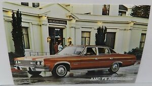 BROWN AMBASSADOR 4 DR 1974 74 AMC DEALERSHIP DEALER PROMO POSTCARD