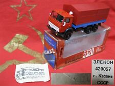 KAMAZ 5320 Flatbed Truck Tent SOVIET CARS SCALE MODEL 1:43 RUSSIAN DIECAST USSR