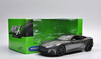 Welly 1:24 Aston Martin DBS Superleggra Diecast Model Sports Racing Car Gray