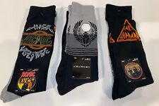 DEF LEPPARD,AC-DC ,Journey,80s Rock Band Crew Socks 6 Pairs Of Socks Stockings
