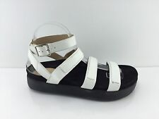 L.A.M.B Women's White Leather Sandals 10 M
