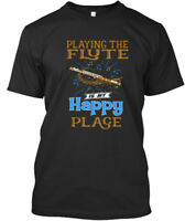 Playing Flute Happy Place - The Is My Premium Tee T-Shirt