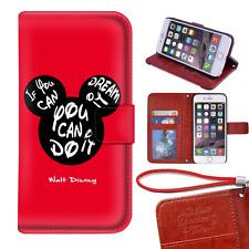 """Disney Quotes regular iPhone 7 4.7"""" wallet Case, Onelee - Walt Disney Quotes Pre"""