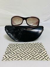 Versace Swarovski Sunglasses 4068-B 185/13 Violet Brown Frame 65-16-125