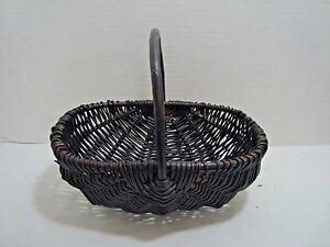 Egg Basket Brown Primitive Farmhouse Decor