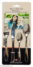 Windsor Child Cutlery Set 4 Four Piece Stainless Steel Children Childrens Kids