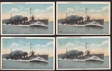 4-Military-U.S. Submarine Destroyer-Antique-Vintage Postcard Lot