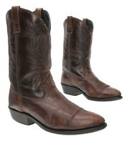 LAREDO Roper Cowboy Boots 11 D Mens Brown Leather Western Rodeo Boots Motorcycle
