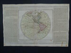 1776 BRION / Desnos Atlas WORLD map WESTERN HEMISPHERE - AMERICAS