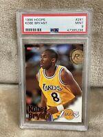 KOBE BRYANT⚡️1996-97 NBA Hoops Rookie #281 PSA 9 Mint RC🔥Lakers HOT