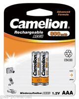 2 x Camelion AAA Mirco HR03 800mAh Blister Telefon NiMH Akku Accu 1,2 V