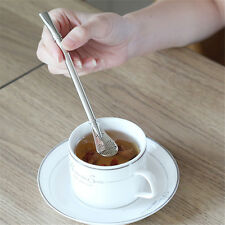 Drinking Tea Stainless Steel Bombilla Straw With Filter Stirring Stick Spoon