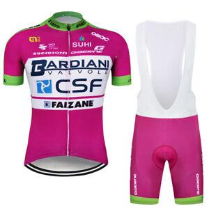 2021 Men's Team Cycling Clothing Short Jersey Bib Bike Shorts Kits Padded Set