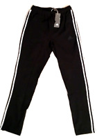 ADIDAS SWEATPANTS MENS ATHLETIC PANTS AUTHENTIC SIZE MEDIUM BLACK TRACK NEW TAGS