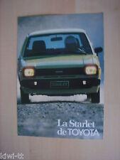 Toyota Starlet 1000L, 1000DL, 1300DL, Prospekt / Brochure / Depliant, B,11.1981