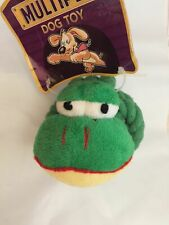 """MULTIPET KNOTTED ROPE & PLUSH GATOR 4"""" SQUEAKER DOG TOY. TO THE USA"""